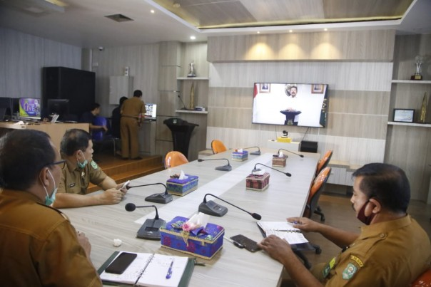 Kejati Riau Selenggarakan Webinar Optimalisasi Contract Drafting (foto/lin)
